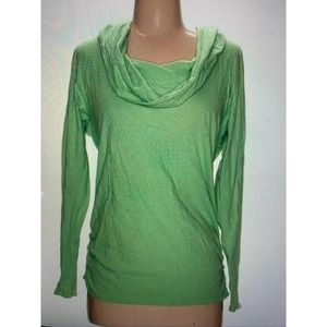 Lucy green hoodie funnel neck sweatshirt S